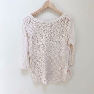 Free people Cream blouse boho M